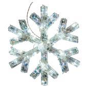 Flocon de neige illuminé, 40 DEL, blanc, 25