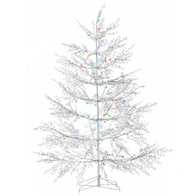 outdoor pre lit white christmas tree 104 led 5