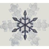 Holiday Living Lighted Snowflake - LED - 46-in - Metal/Fabric - White/Blue