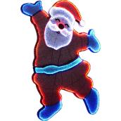 Holiday Living Illuminated Santa - 47-in - Metal/Fabric - Blue/White/Red