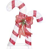 Holiday Living 1-Pack 45-in Freestanding Candy Cane Decoration with White LED Lights