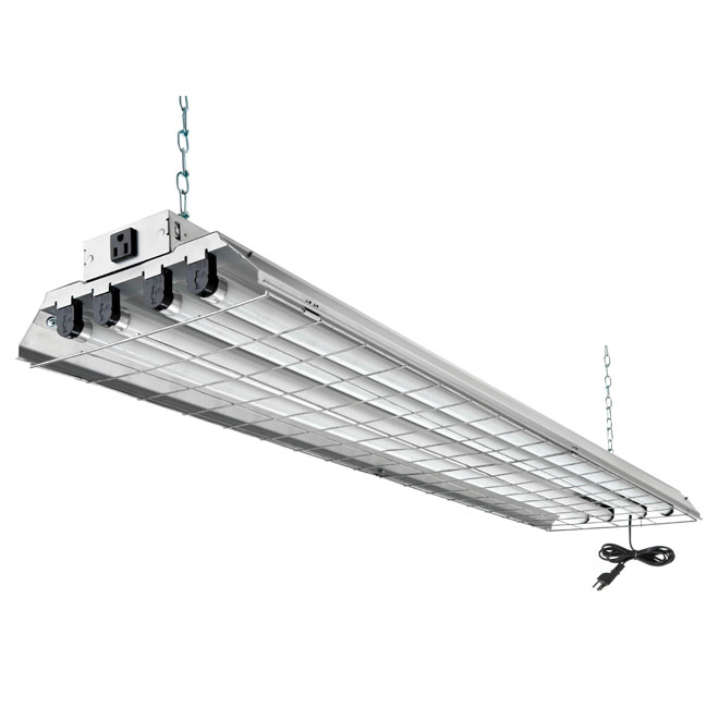 LITHONIA 4-Light Wireguard Fluorescent Light Fixture