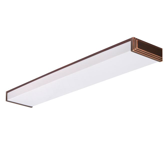 "2-Light Fluorescent Light Fixture 48"" - Bronze"