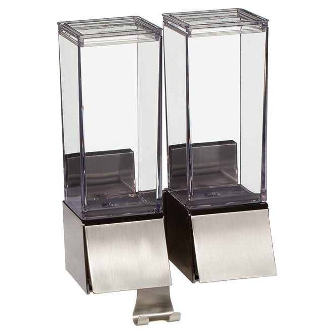 Luxury Double Dispenser - Linea - Brushed Nickel
