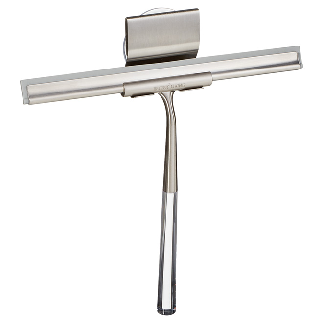 Luxury Shower Squeegee - Linea - Brushed Nickel