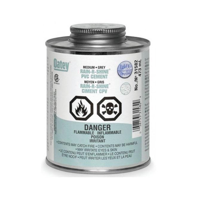 "473 mL Medium Grey ""Rain-R-Shine"" Cement for PVC Pipes"