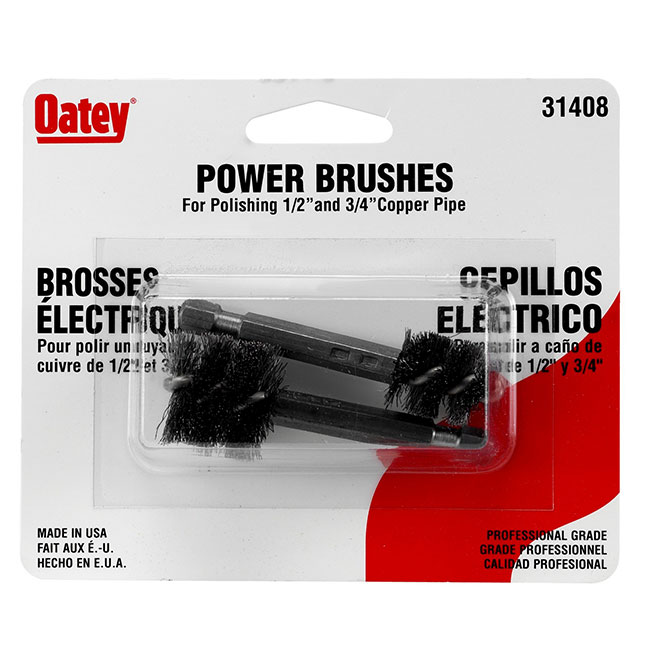 "Power Brushes - 1/2"" and 3/4"" - Pack of 2"