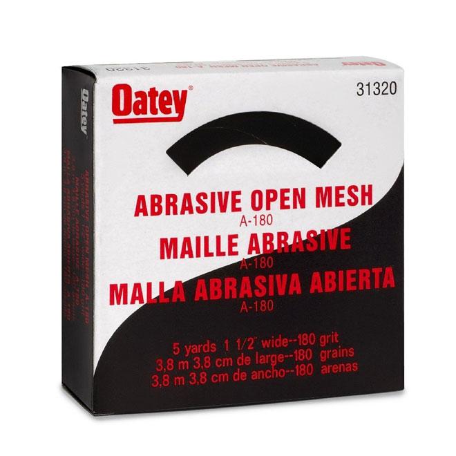 "Open Mesh Abrasive Cloth- 1 1/2"" x 180"" - 180 Grit"