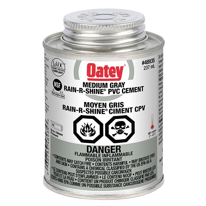 PVC Cement - Rain-R-Shine - Grey - 237 mL