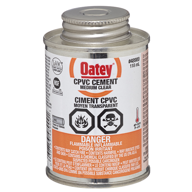 CPVC Cement - Clear Medium-Bodied - 118 mL