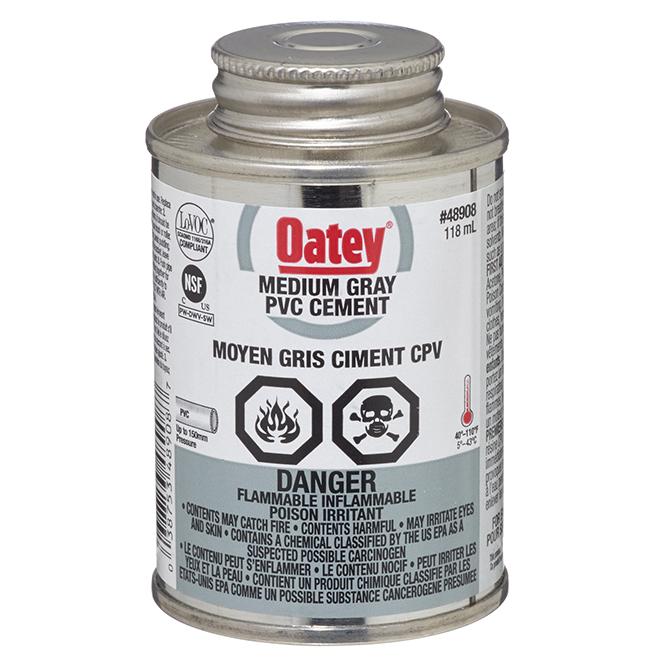 PVC Cement - Medium-Bodied - Grey - 118 mL