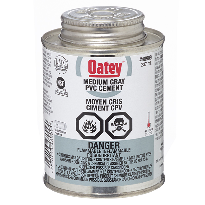 PVC Cement - Medium-Bodied - Grey - 237 mL