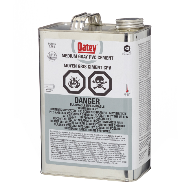 PVC Cement - Medium-Bodied - Grey -3.78 L