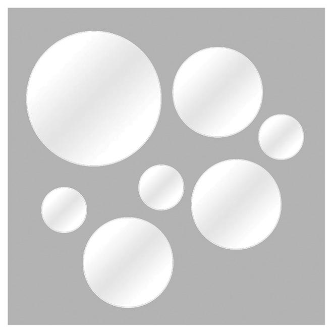 Bon Ensemble De 7 Miroirs Ronds, Formats Variés
