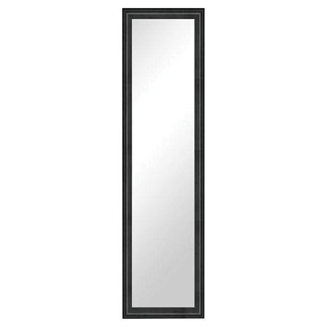 "Framed Door Mirror - 14"" x 50"" - Black"