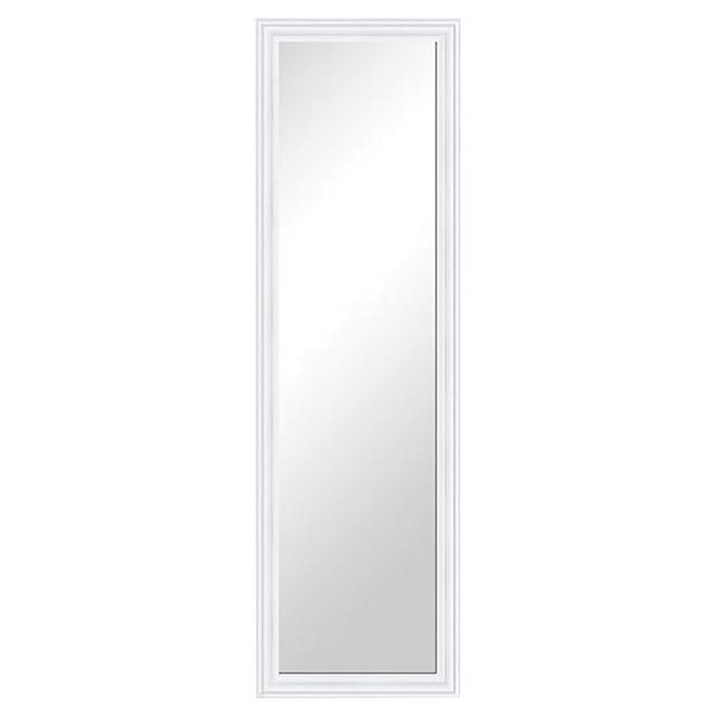 "Framed Door Mirror - 14"" x 50"" - White"
