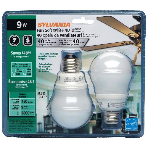 9-W Compact Fluorescent Lightbulbs