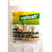 Birch Round Head Screw Cap - 3/8-in - 25/Pack