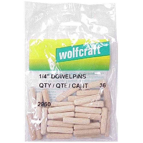"""Wood Dowel Pins - 1/4"""" - Pack of 36"""