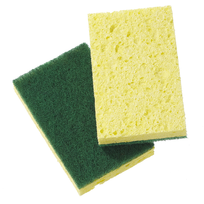 2-Pack Kitchen Scrub Sponges - Yellow and Green