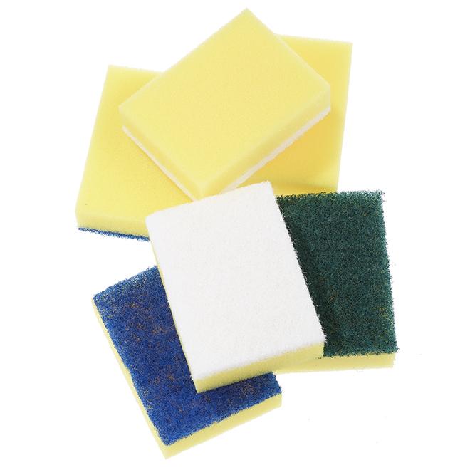 Paquet de 6 éponges à récurer multi-surfaces, assorties