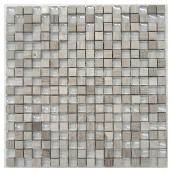 Uberhaus Glass and Marble Mosaic - 12-in x 12-in - Assorted Colours - 5 sq. ft.