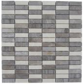 Uberhaus Stream Marble Mosaic - 12-in x 11.75-in - Assorted Colours - 5/Box