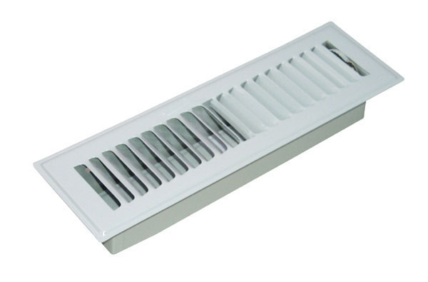 Franell Adjustable Floor Register - 2.25-in x 10-in - Grey
