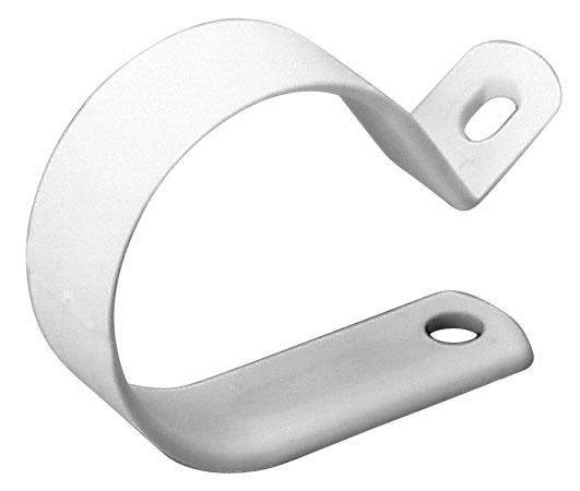 Plastic Clamp - 1/2'' - White - 12-Pack