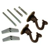 Swag Hook Kit - Wall and Ceiling - Antique Brass