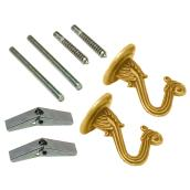 Swag Hook Kit - Wall and Ceiling - Brass
