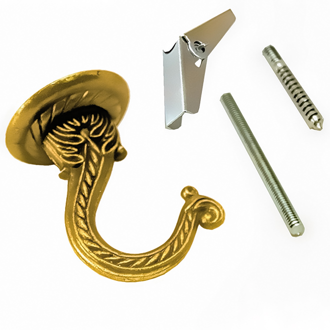 Jumbo Decorative Hook - Brass