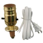 Ensemble de douille avec cordon pour lampe, laiton