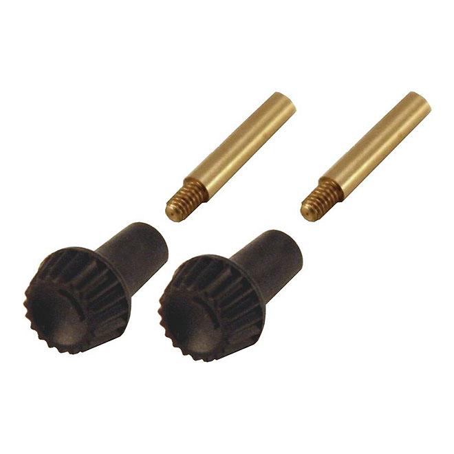 Bouton rotatif avec extension, plastique, brun, 2/pqt