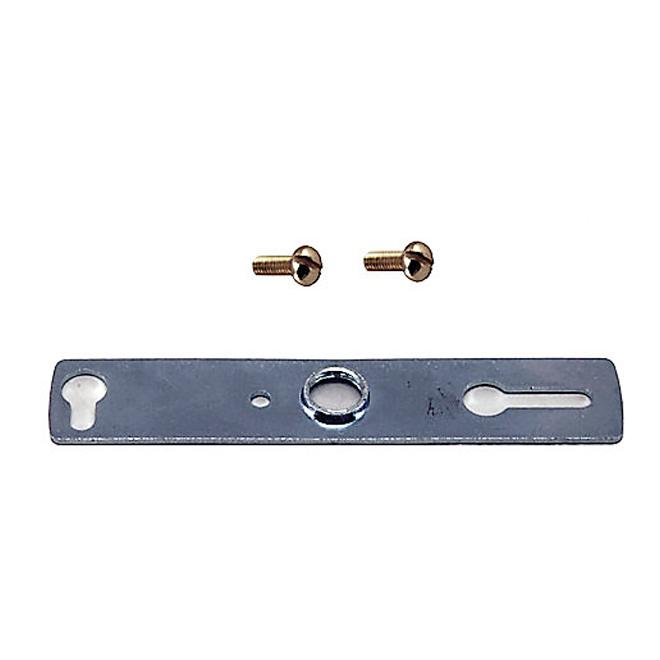 Barre de fixation métallique traditionnelle Atron, ajustable, trou central fileté de 1/8 po IP, 4 po L., 5 pièces