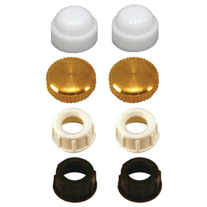 Assorted Cap Finials Kit - 8 Pieces