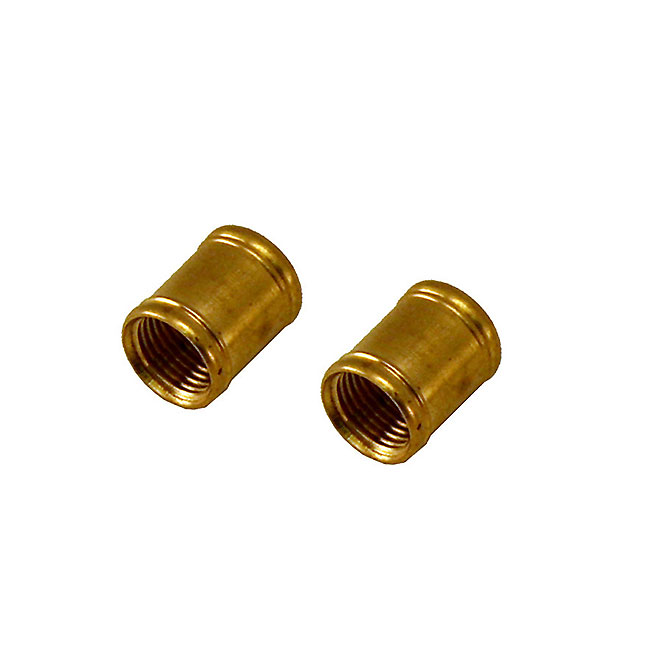 "Coupling - 1/8"" I.P.S. - Brass Finish - 2/Pk"