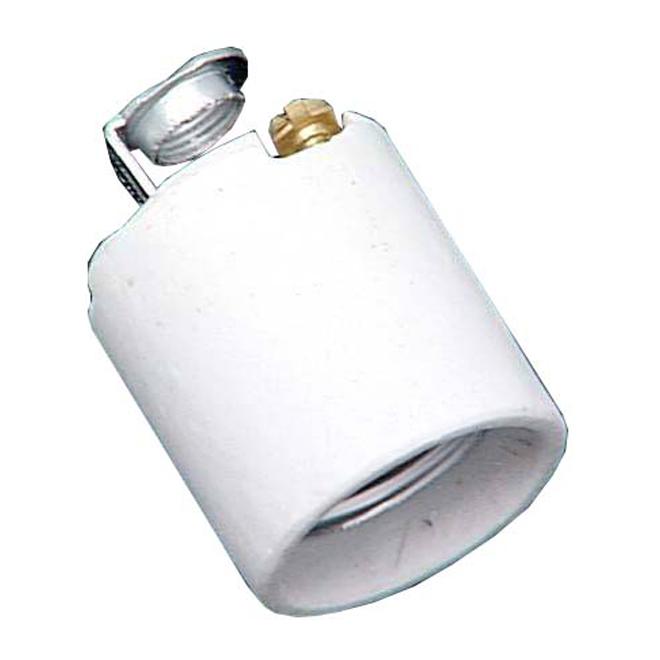 Douille en porcelaine sans interrupteur Atron, noir, culot moyen, 250 V, 660 W