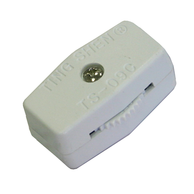In-Line Universal Cord Switch - White