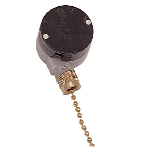 3-Speed Ceiling Fan Switch with Pull Chain