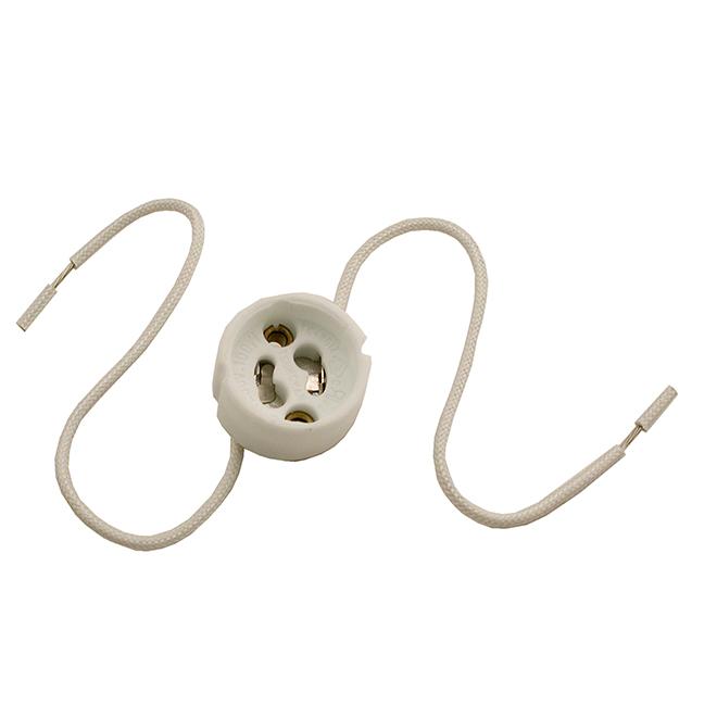 """GU10"" White Socket"