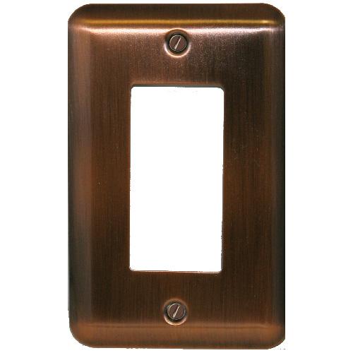 "Single-Gang Wall Plate - ""Elite"" - Oiled Bronze"