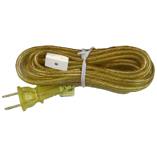 Lamp Cord with In-line switch - 6' - Gold