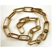 Oval Links Heavy Duty Decorative Chain - 3' - Antique Brass