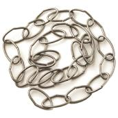 Oval Links Decorative Chain - 3' - Pewter