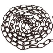 Oval Links Decorative Chain - 12' - Black