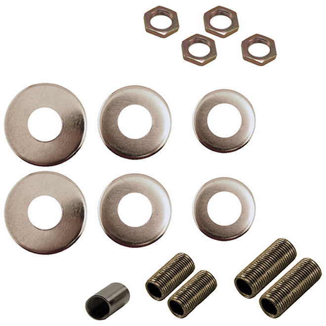 15-Piece All-Purpose Kit For Lamps - 1/8 IP - Chrome