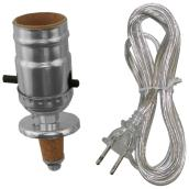 Socket with Cord Set for Lamp - Chrome