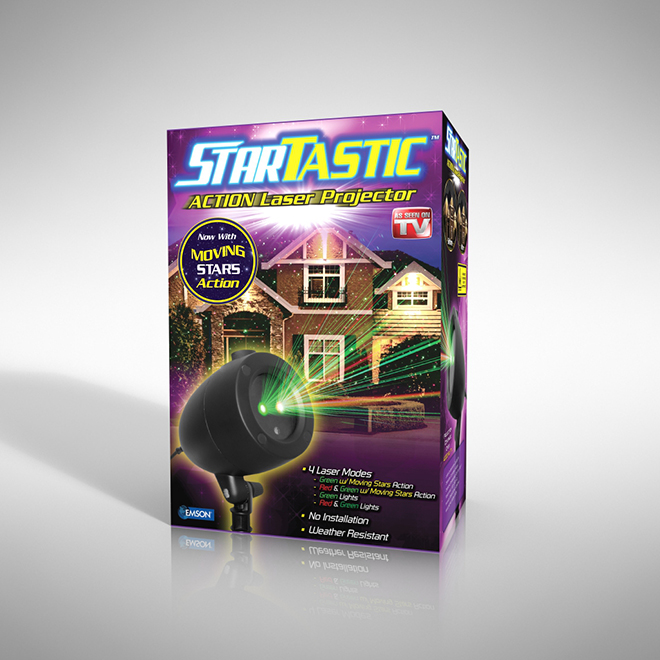 Startastic Laser Action Projector - Green and Red