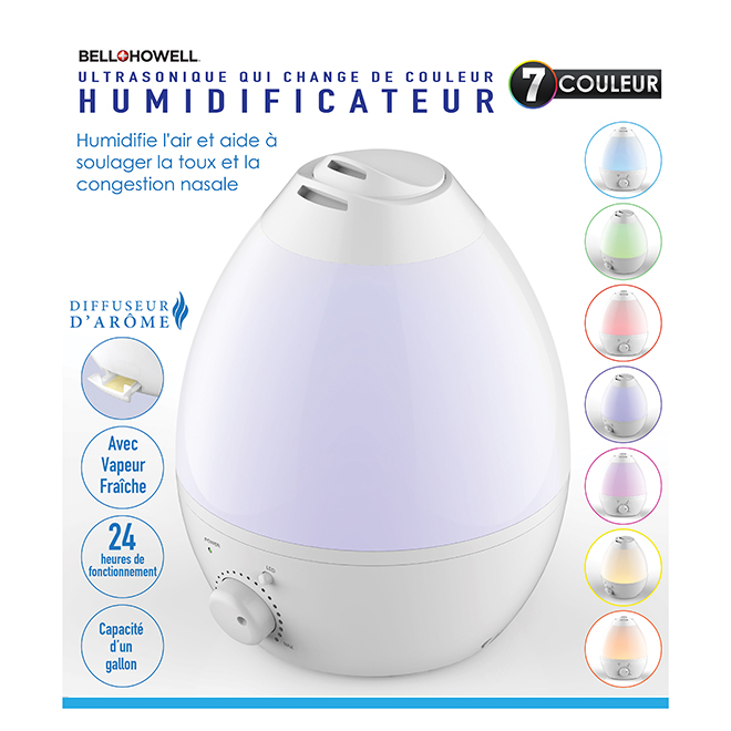 Ultrasonic Humidifier and Aroma Diffuser - 1-Gallon